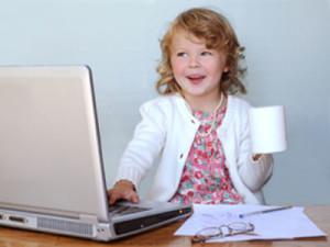Little girl entrepreneur
